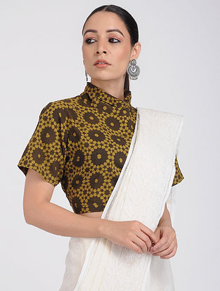 Brown Ajrakh-printed Cotton Blouse