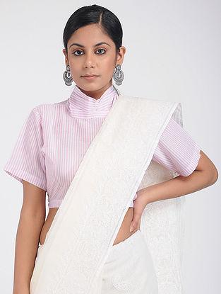 Pink Handloom Cotton Blouse