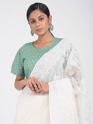 Green Handloom Ikat Cotton Blouse