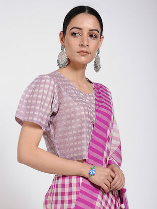 Purple Handloom Ikat Cotton Blouse