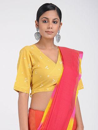 Yellow Bandhani Cotton Blouse