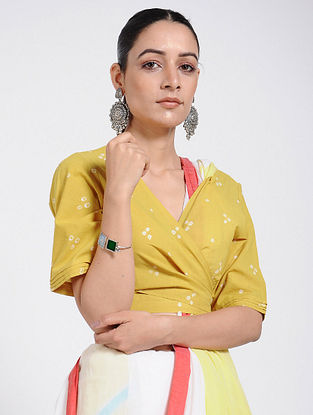 Yellow Bandhani Cotton Blouse