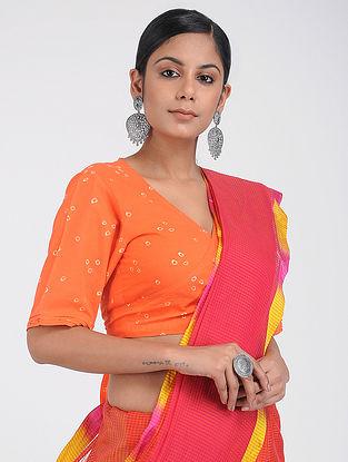 Orange Bandhani Cotton Blouse
