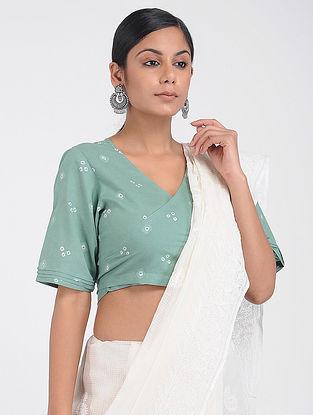 Green Bandhani Cotton Blouse