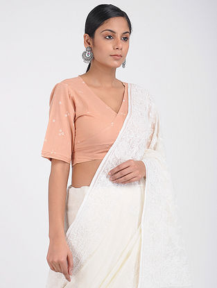 Peach Bandhani Cotton Blouse