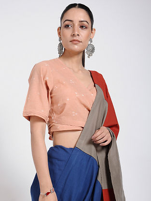 Peach Bandhani Cotton Blouse