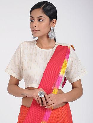 Ivory Handloom Ikat Cotton Blouse