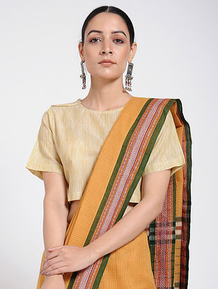 Yellow Handloom Ikat Cotton Blouse