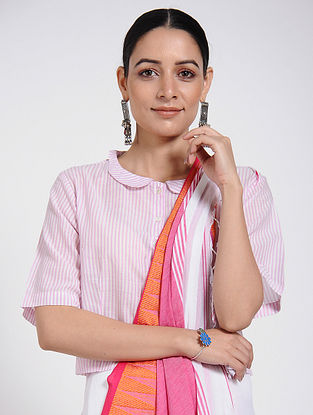 Pink Handloom Cotton Blouse