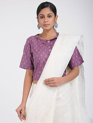 Purple Handloom Ikat Cotton Blouse