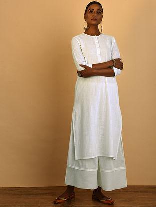 White Cotton Slub Kurta