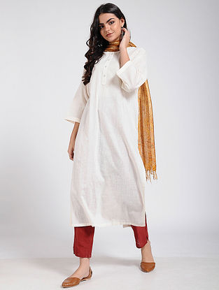 White Slub Cotton Kurta