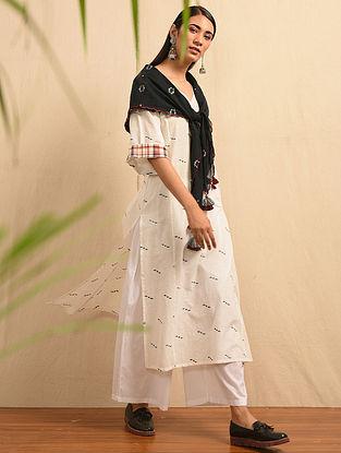 ROSOGULLA - White Handloom Cotton Jamdani Kurta