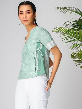Green Cotton Khadi Top