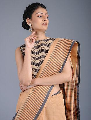 Brown Ajrakh-printed Cotton Blouse