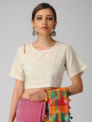 Ivory Cotton Slub Blouse