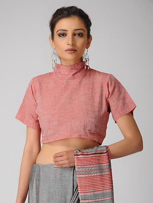Pink Cotton Tie-up Blouse