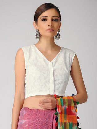 Ivory Cutwork Cotton Blouse