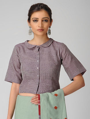 Purple Handloom Cotton Blouse