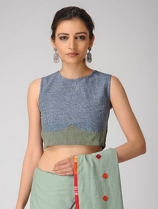 Blue-Green Handloom Cotton Blouse