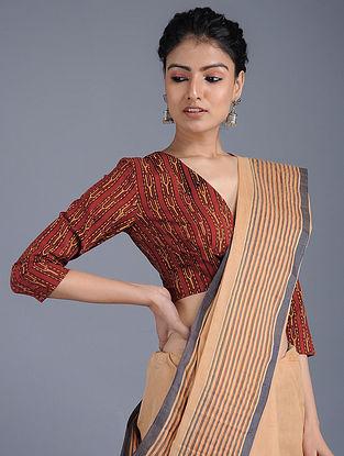 Madder Ajrakh-printed Cotton Blouse