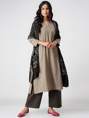 Beige Handloom Cotton Kurta with Pockets by Jaypore