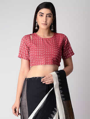 Red Cotton Ikat Blouse