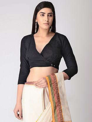 Black Handloom Cotton Blouse