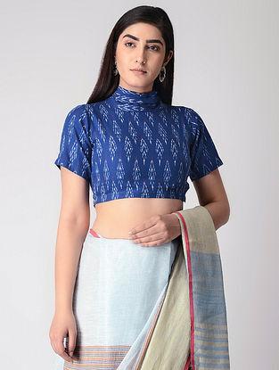 Blue Cotton Ikat Blouse
