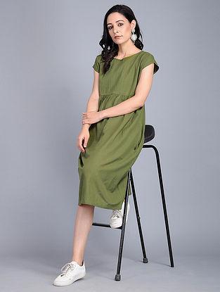 Green Handloom Cotton Dress