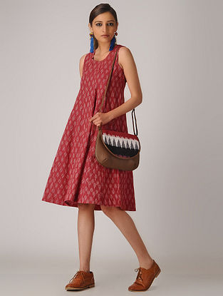 Red Ikat Cotton Dress
