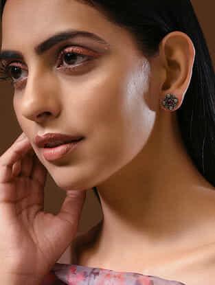 Pink Silver Earrrings
