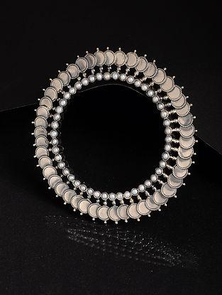 Pearl Silver Bangle (Bangle Size -2/4)