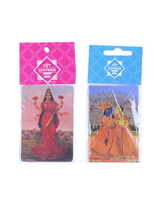 Multicolored Magnets with Deity Print (Set of 2)