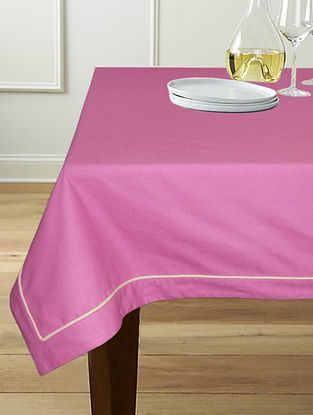 Magenta Cotton 6-Seater Table Cover (90in x 60in)