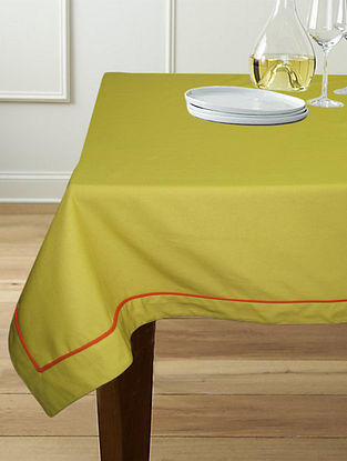 Green Cotton 6-Seater Table Cover (90in x 60in)