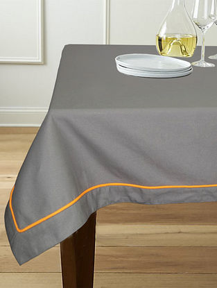 Grey Cotton 6-Seater Table Cover (90in x 60in)