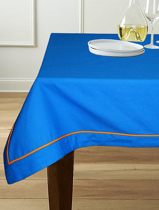 Blue Cotton 6-Seater Table Cover (90in x 60in)
