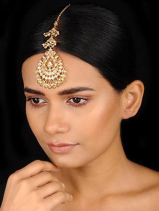 Classic Gold Tone Kundan Inspired Jadau Maang Tikka