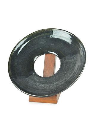 Charcoal Doughnut Platter (Dia - 11in)