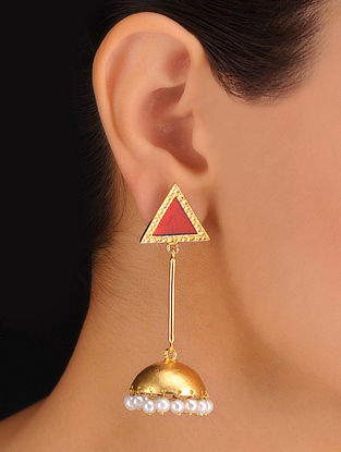 Pair of Triangle Golden Earrings