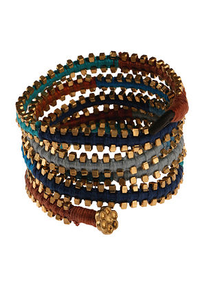 Multicolored Gold Tone Handcrafted Bracelet