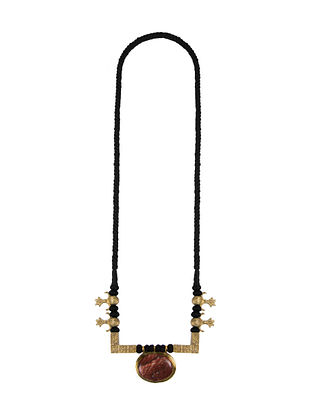 Brown Black Gold Tone Handcrafted Necklace
