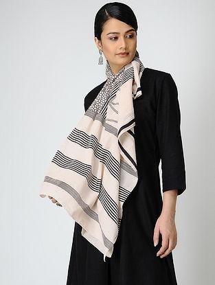 Black-Ivory Bagh-printed Cotton Dupatta