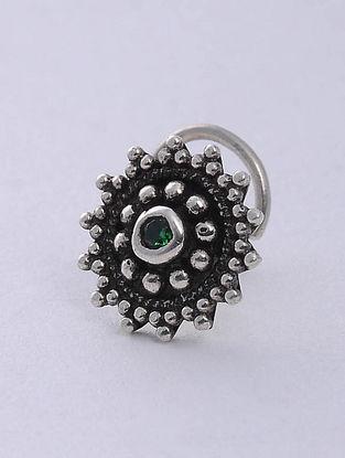 Green Silver Nosepin
