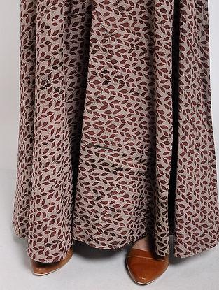 Brown Block-printed Cotton Palazzos