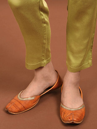 Green Elasticated Waist Modal Pants