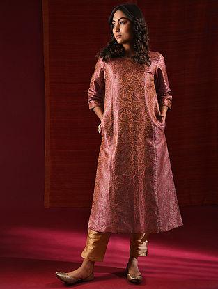 RUDRAMA - Pink Handloom Benarasi Silk Brocade Kurta