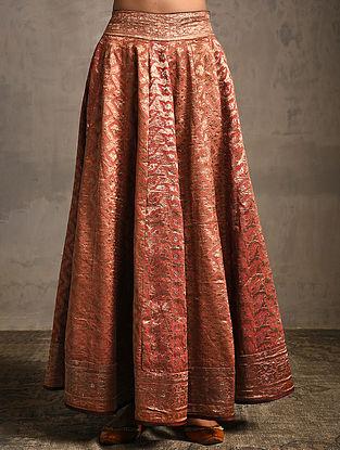 Orange Vintage Benarasi Silk Brocade Lehenga