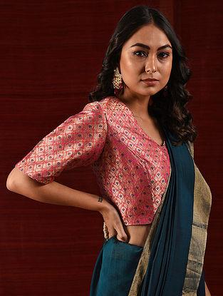 ABAKKA RANI - Pink Handloom Benarasi Silk Brocade Blouse